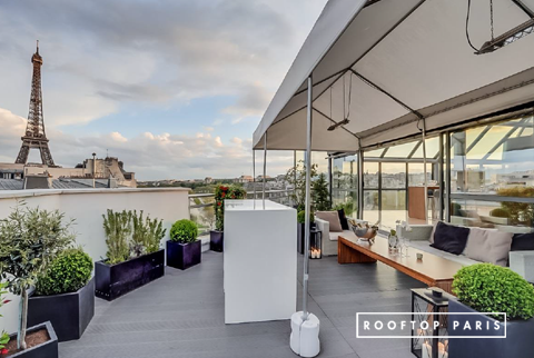 Rooftop paris 15 location privatisation for Bar exterieur paris