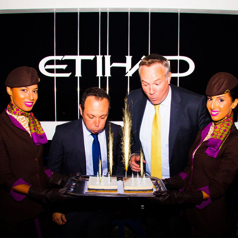 agence événementielle entreprise - 10 ans éthiad Airways