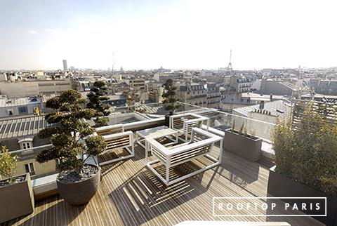 Terrasse panoramique avec vue