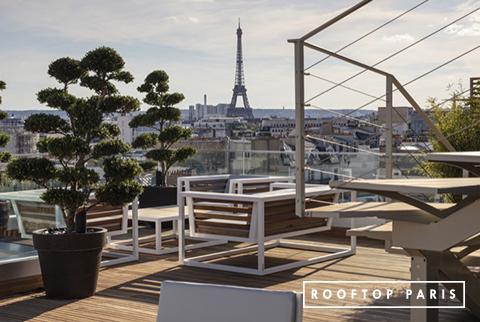 Rooftop avec vue incroyable sur la Tour Eiffel