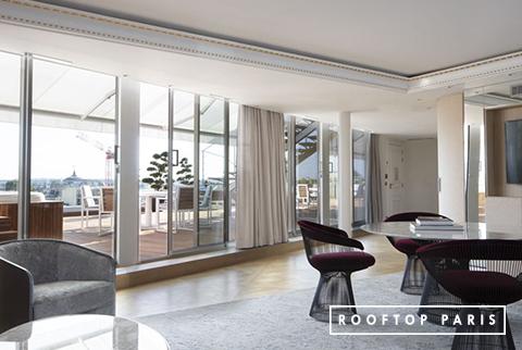 Rooftop Saint-Augustin avec salon intérieur